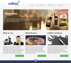 Cellhire Corporate Website